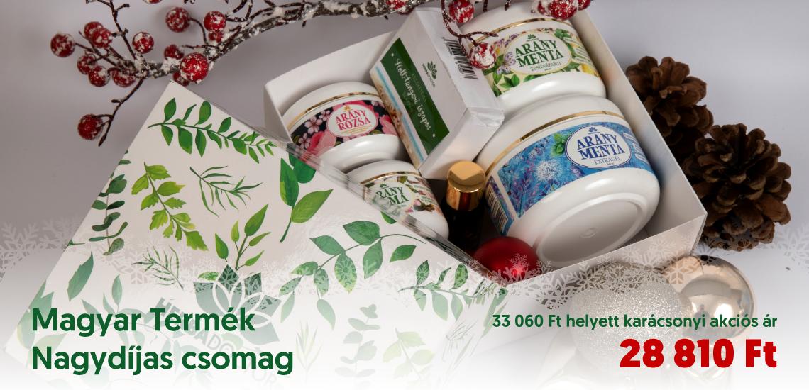Karácsonyi Magyar Termék Nagydíjas csomag